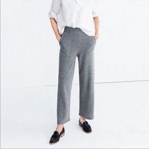Madewell womens small Wide-Leg Sweater Pants EUC